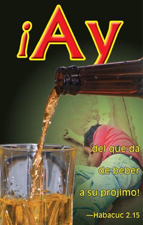 Tapa del folleto sobre el alcoholismo