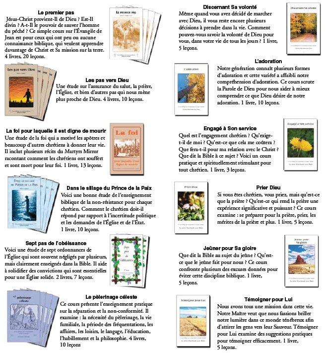 Cours bibliques par correspondance d' Éditeurs Lampe et Lumière